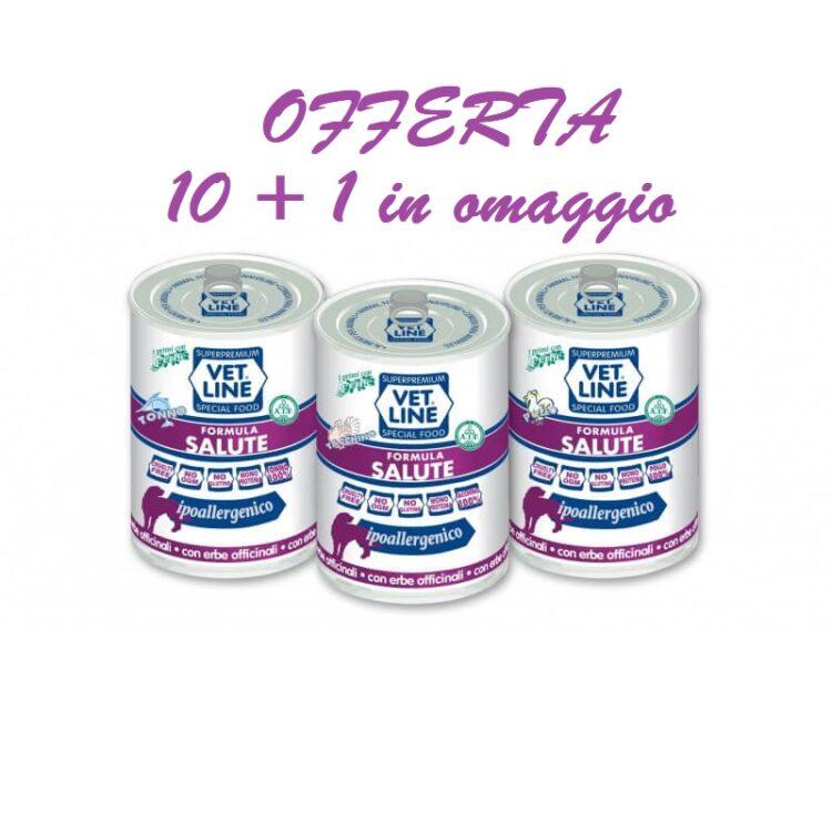 VET LINE SALUTE BUFALO E PATATE Confezione risparmio 400g 10+1 OMAGGIO